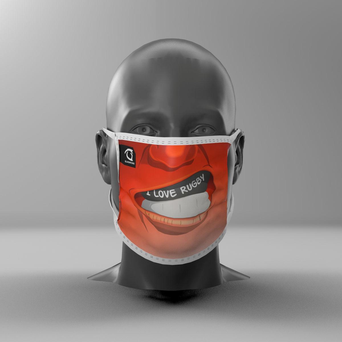 mascherina I Love Rugby